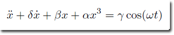 Duffing Equation 1